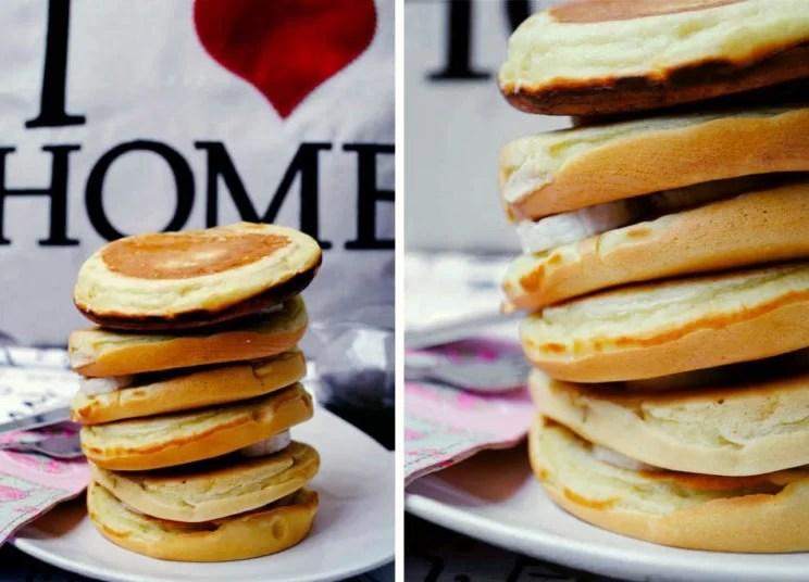 Pancakes z bananami i czekoladą