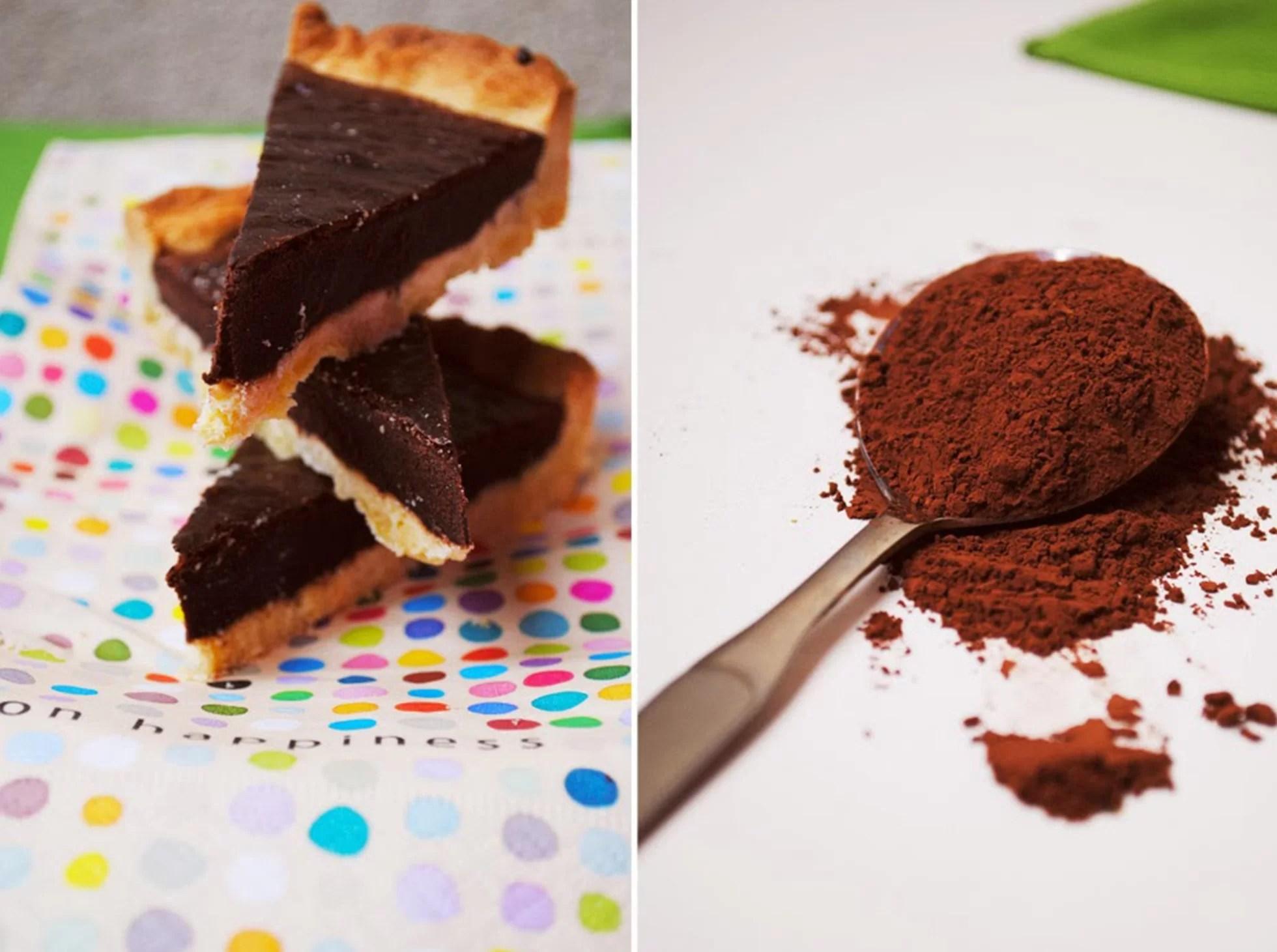 Tarta na kruchym spodzie z masą czekoladową