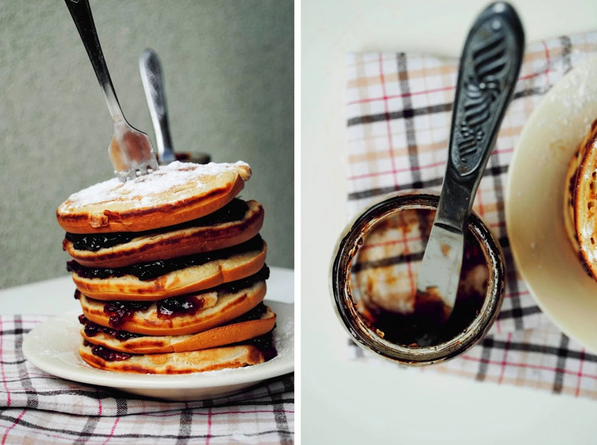 Pancakes amerykańskie naleśniki z dżemem