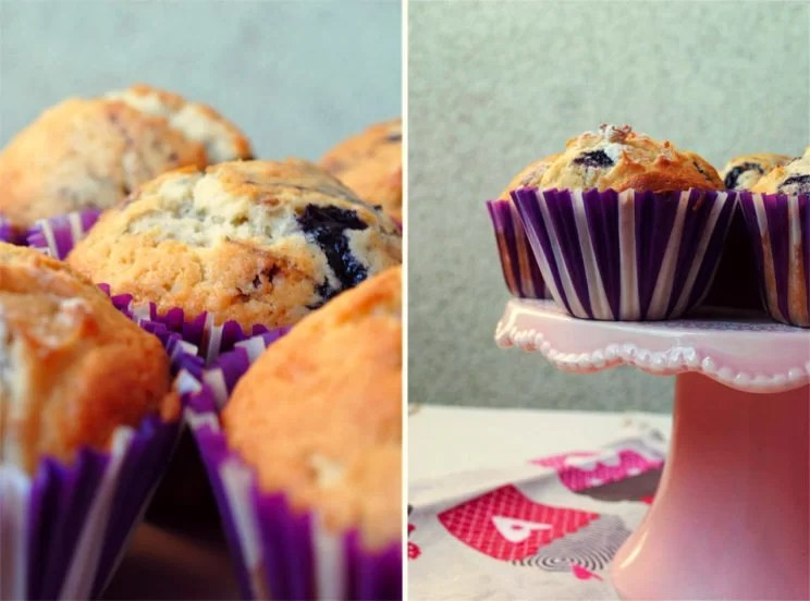 Muffinki z dżemem jagodowym
