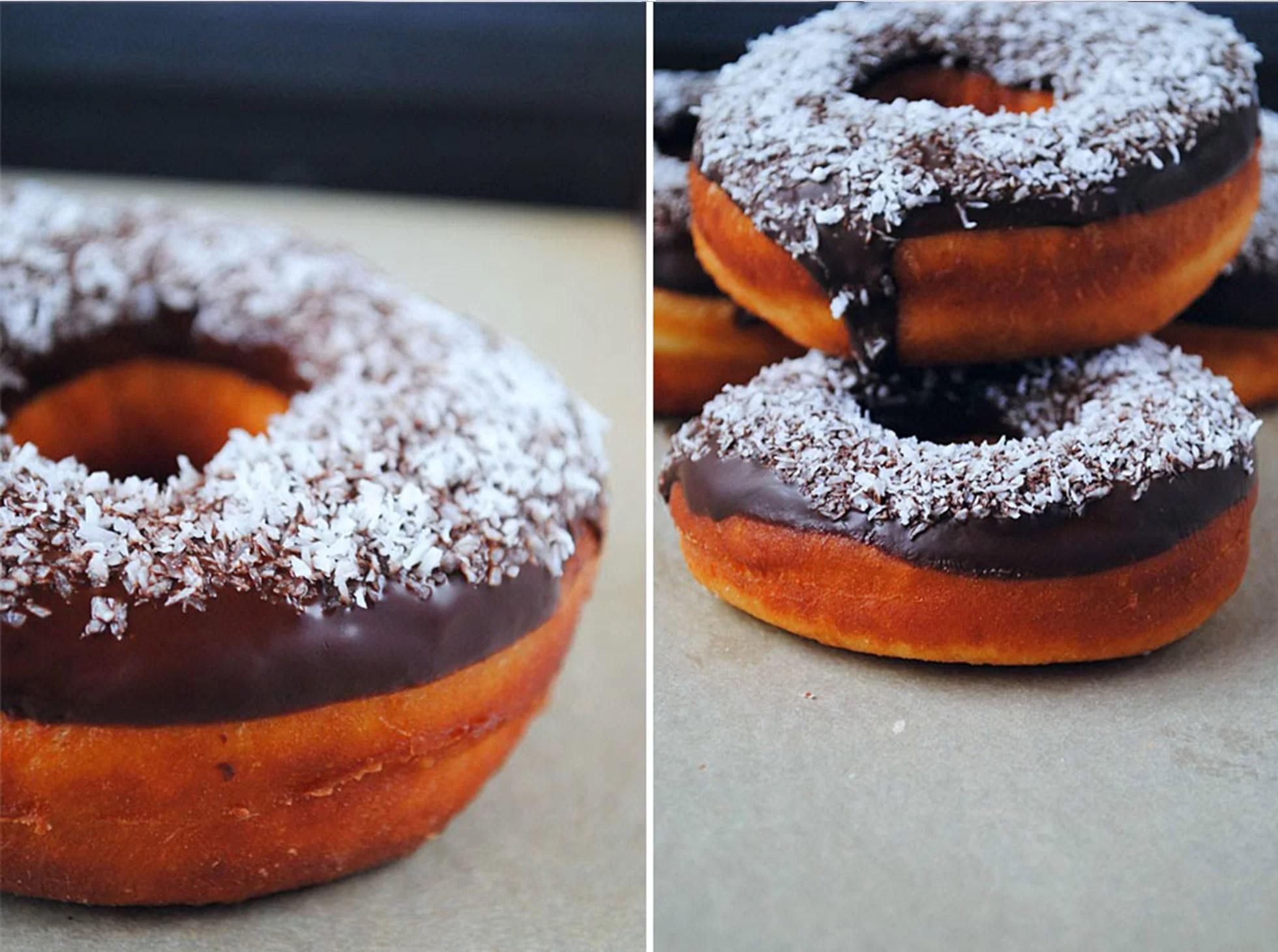 Donuts z polewą czekoladową
