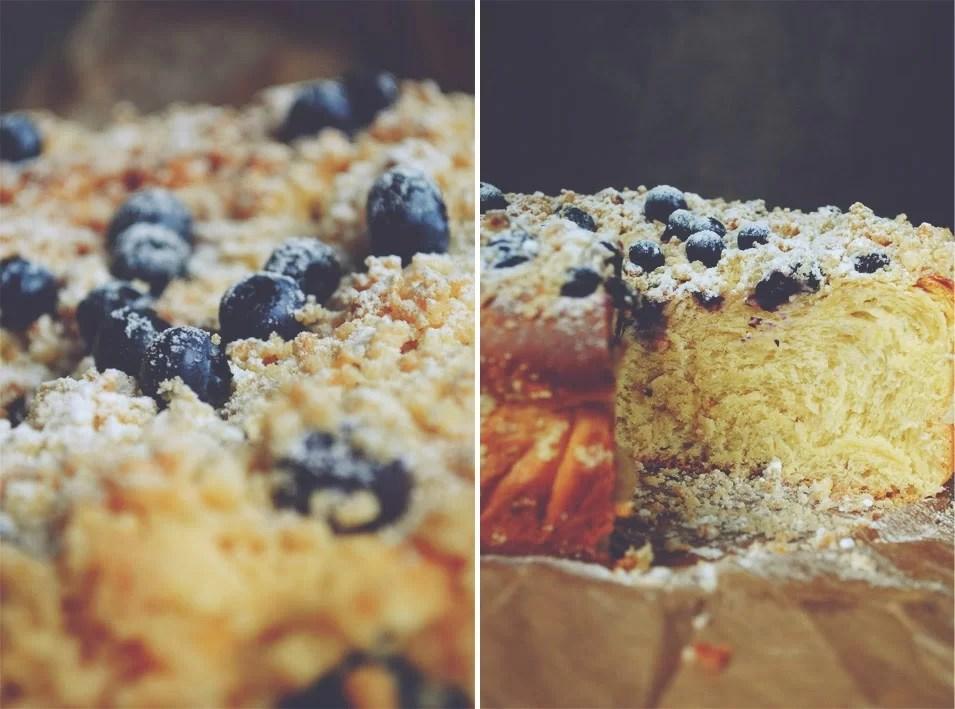 ciasto drożdżowe z borówkami