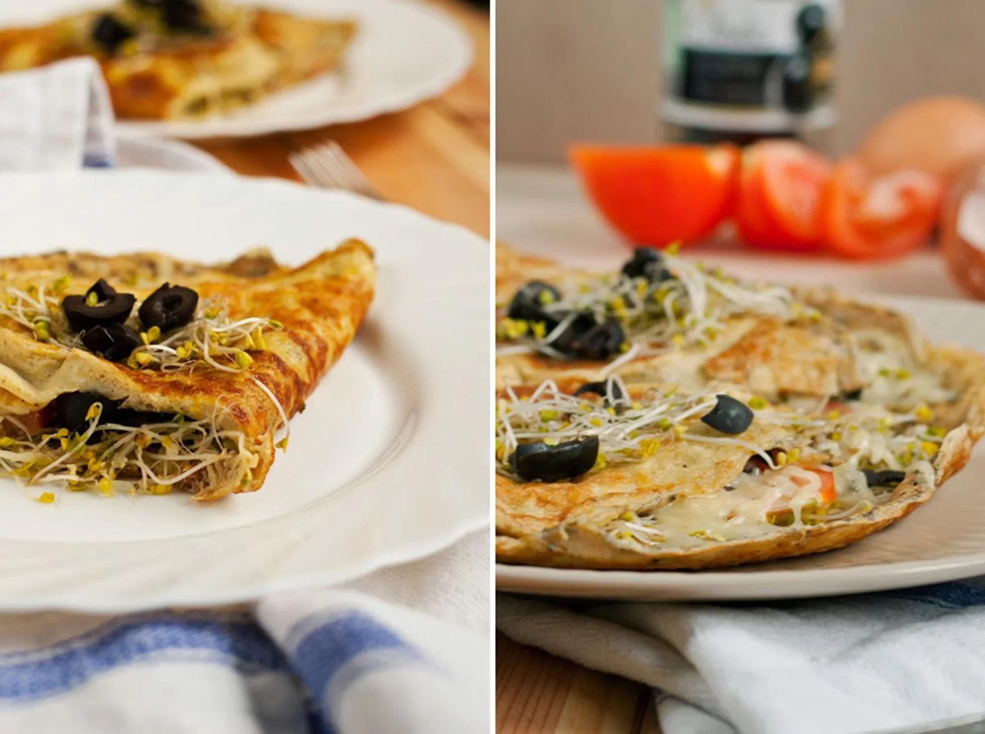 Klasyczny omlet z warzywami