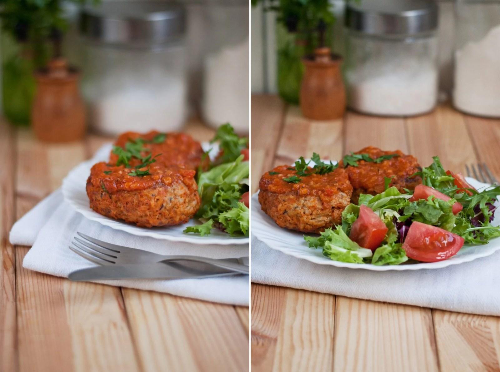gołąbki na odwrót w sosie pomidorowym