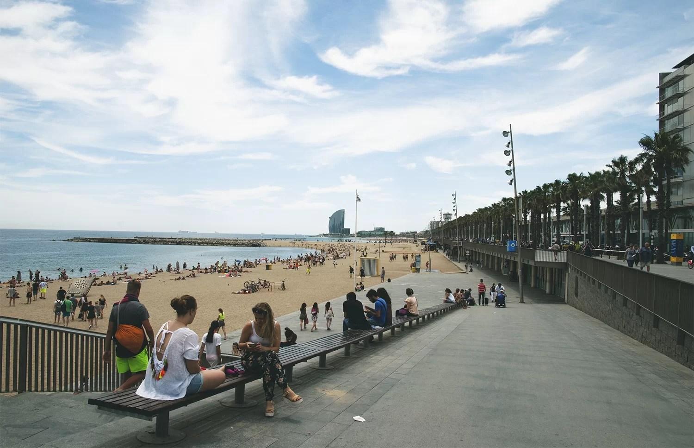 Barcelona główna plaża Barceloneta
