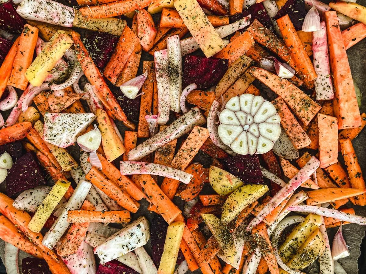 Szybki obiad pieczone warzywa