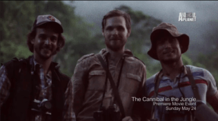 Dr Timothy Darrow with his two expedition partners.