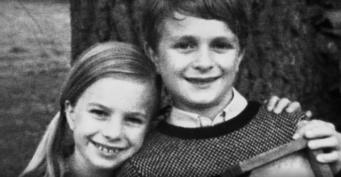 Dr Timothy Darrow as a young boy with his sister Susan Clemens.