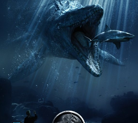 Image of the Jurassic World movie poster.
