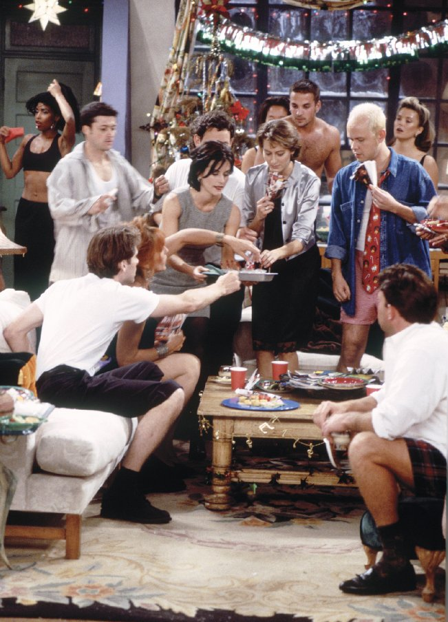 Image of Gunther and the gang from an episode of Friends.