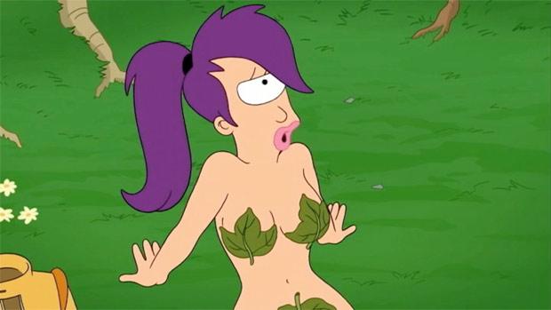 Image of Leela nude in the garden of eden episode
