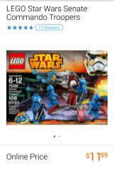 Lego Star Wars Senate Commando Troopers set