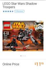 Lego Star Wars Shadow Troopers set