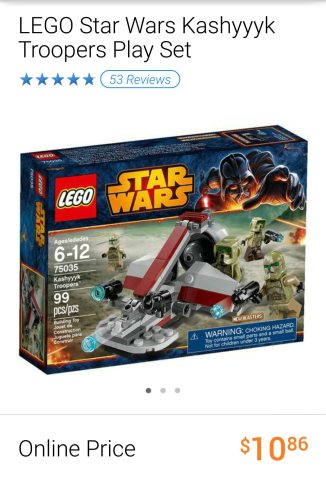 Lego Star Wars Kashyyk Troopers set