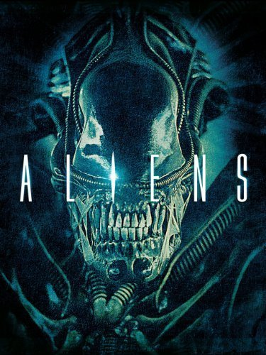 The movie poster for the movie Aliens.