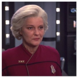 Image of Admiral Kathryn Janeway on the Starship Voyager.