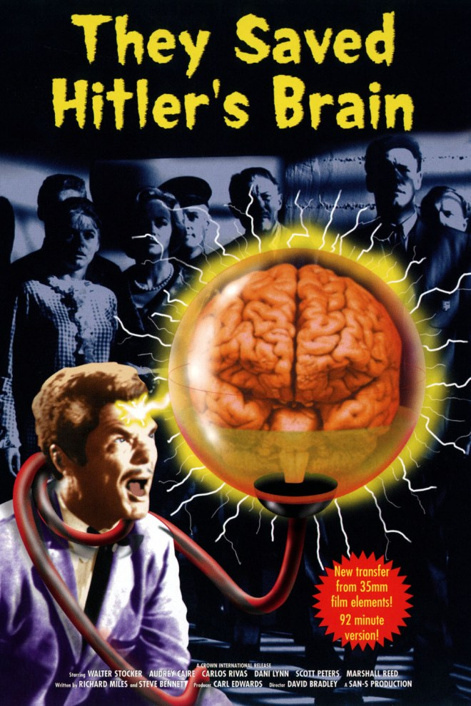 Image of the 'They Saved Hitler's Brain' movie poster