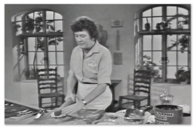 Image of Julia Child taken from twitch.tv's streaming of 'The French Chef'