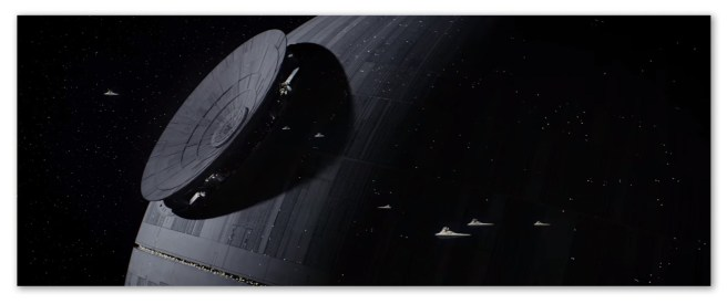 Image of a Death Star under construction from the movie Rogue One