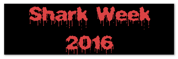 "Black banner with red text ""Shark Week 2016"""