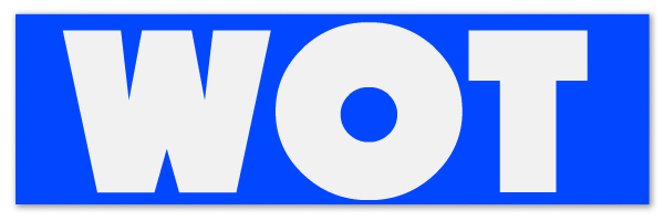 "Blue banner with text ""WOT"". WOT stands for Wheel of Time."