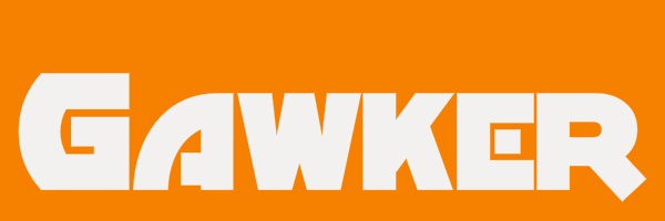 """Orange colored banner with text """"Gawker"""""""