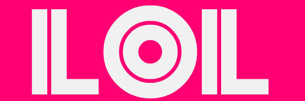 "Pink colored banner with text ""LOL"""