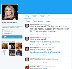 Monica Crowley's twitter. No apology.