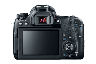 The back of the new Canon EOS 77D.