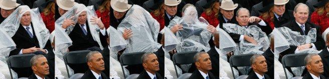 George W Bush at Trump's inauguration.