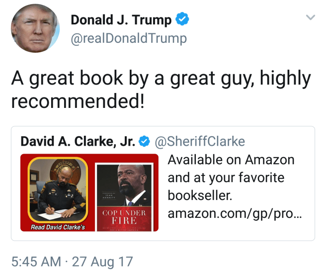 """A great book by a great guy, highly recommended!"" August 27th 2017 as Houston floods."