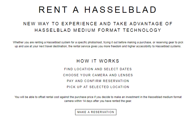 Hasselblad isn't sitting still…