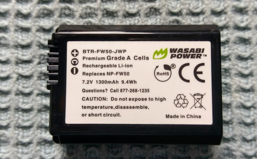 Wasabi Power's NP-FW50 Replacement Battery – Unstable with the A7 II