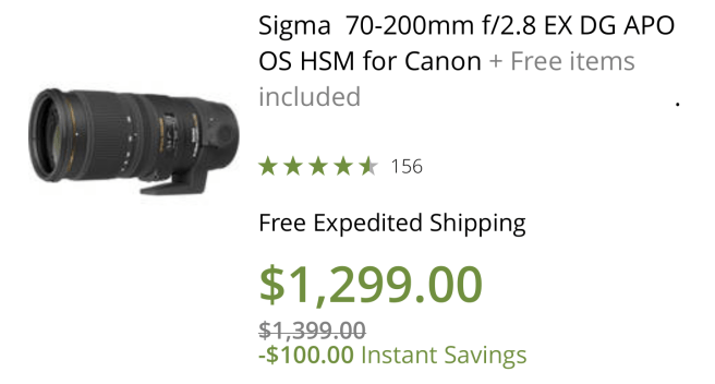 Sigma's old 70-200 lens