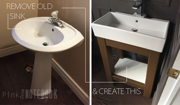 how to make a powder room vanity