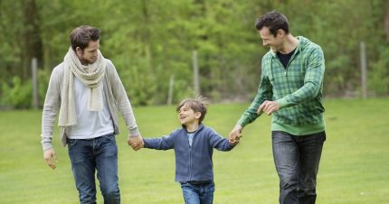 A happy family with same-sex parents