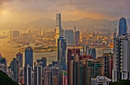 The Hong Kong skyline (Getty)