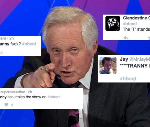 Dozens Of Trolls Target Tranny Question Time Audience Member With Transphobic Slurs Pinknews  C2 B7 Pinknews