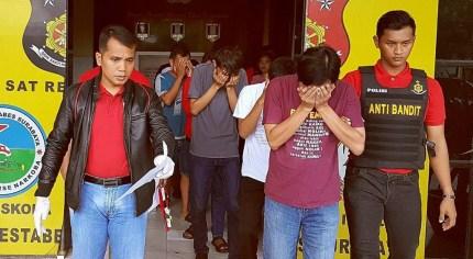 Indonesian men arrested