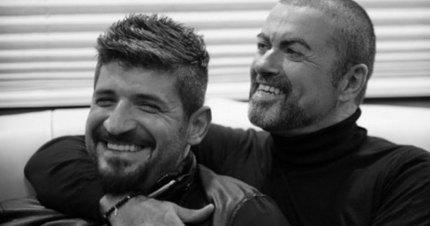 Fadi Fawaz with his boyfriend George Michael