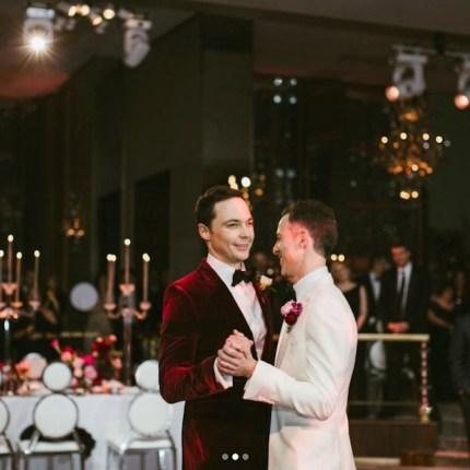 Jim Parsons wedding photo
