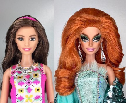 Valentina as a doll
