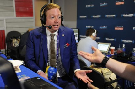 CLEVELAND, OH - JULY 21: President of Log Cabin Republicans Gregory Angelo talks with Andrew Wilkow during an episode of The Wilkow Majority on SiriusXM Patriot at Quicken Loans Arena on July 21, 2016 in Cleveland, Ohio. (Photo by Ben Jackson/Getty Images for SiriusXM)