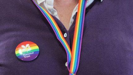 National Trust Rainbow// lanyard