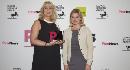 Mermaids CEO Susie Green, pictured here at the PinkNews Awards,