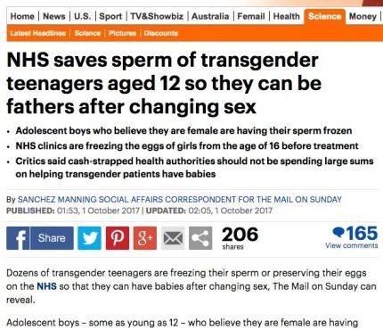 mail online trans fertility