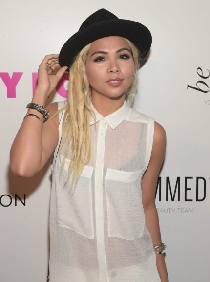 WEST HOLLYWOOD, CA - MAY 07:  Actress Hayley Kiyoko attends the NYLON Young Hollywood Party presented by BCBGeneration at HYDE Sunset: Kitchen + Cocktails on May 7, 2015 in West Hollywood, California.  (Photo by Jason Kempin/Getty Images for NYLON)