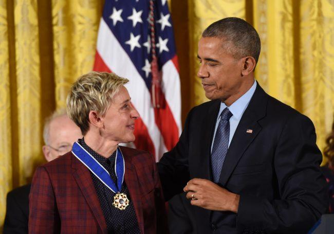 Obama y Ellen