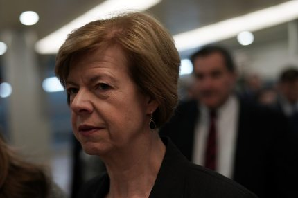 WASHINGTON, DC - JANUARY 17:  U.S. Sen. Tammy Baldwin (D-WI) passes through the basement of the U.S. Capitol prior to a Senate Democratic Policy Luncheon January 17, 2018 in Washington, DC. Senate Democrats held the weekly luncheon to discuss Democratic agenda.  (Photo by Alex Wong/Getty Images)
