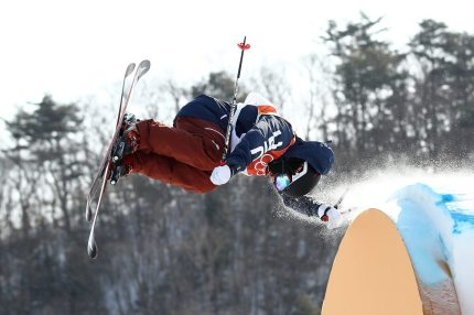PYEONGCHANG-GUN, SOUTH KOREA - FEBRUARY 18:  Gus Kenworthy of the United States competes during the Freestyle Skiing Men's Ski Slopestyle qualification on day nine of the PyeongChang 2018 Winter Olympic Games at Phoenix Snow Park on February 18, 2018 in Pyeongchang-gun, South Korea.  (Photo by Cameron Spencer/Getty Images)